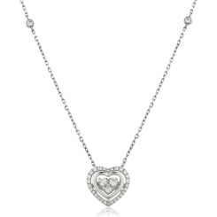 HPRDR162 Round cut Designer Diamond Pendant - white