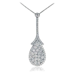 HPRDR1926 1.50CT VS/FG ROUND DIAMOND DESIGNER PENDANT - white