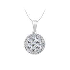 HPRDR1931 0.50CT VS/EF ROUND DIAMOND CLUSTER PENDANT - white