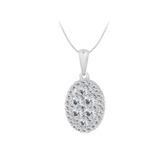 HPRDR1932 0.50CT VS/EF ROUND DIAMOND CLUSTER PENDANT - white