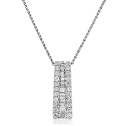 HPRDR1953 0.75CT VS/EF ROUND DIAMOND JOURNEY PENDANT - white