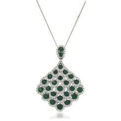HPRGEM239 Designer Drop Emerald Pendant - white