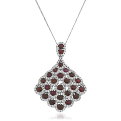 HPRGRY240 Designer Drop Ruby Pendant - white