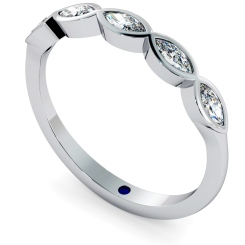 ARA Marquise cut 5 Stone Eternity Diamond Ring - white