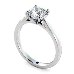 HRC884 Cushion 4 Claw Diamond Ring - white