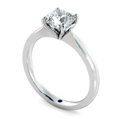 HRC885 Cushion Solitaire Diamond Ring - white