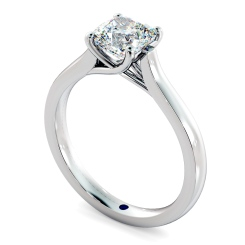 HRC886 Cushion Solitaire Crossover Diamond Ring - white