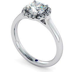 HRCSD710 Classic Cushion cut Halo Diamond Ring - white