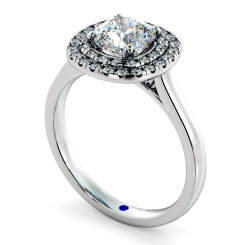 HRCSD852 Cushion Halo Diamond Ring - white