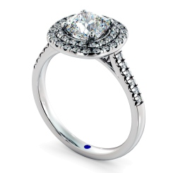 HRCSD853 Cushion Halo Diamond Ring - white