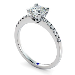 HRCSD880 Cushion Shoulder Diamond Ring - white