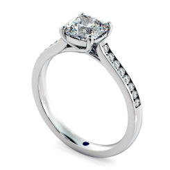 HRCSD882 Cushion Shoulder Diamond Ring - white