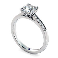 HRCSD883 Cushion Shoulder Diamond Ring - white