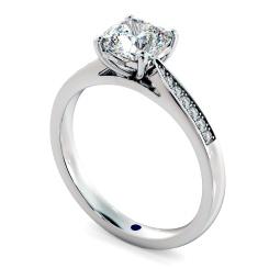HRCSD883 Cushion Shoulder Diamond Ring - white