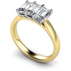 Emerald Trilogy Diamond Ring - yellow