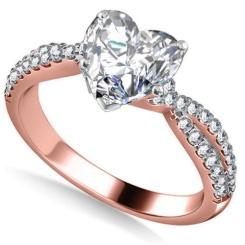 HRHSD1606 1.10CT VS1/F HEART DIAMOND SHOULDER SET RING - rose_2