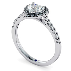HRHSD730 Heart cut Halo Diamond Ring - white