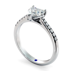 HRHSD878 Heart Shoulder Diamond Ring - white