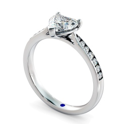 HRHSD879 Heart Shoulder Diamond Ring - white