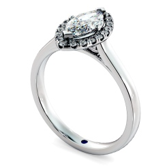 HRMSD842 Marquise Halo Diamond Ring - white