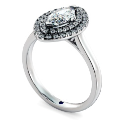 HRMSD843 Marquise Halo Diamond Ring - white
