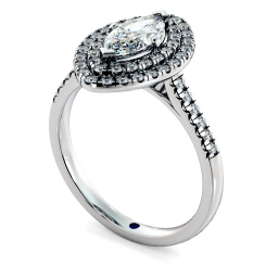 HRMSD844 Marquise Halo Diamond Ring - white