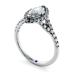 HRMSD846 Marquise Halo Diamond Ring - white