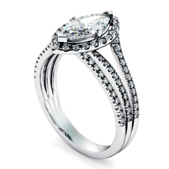 HRMSD874 Marquise Shoulder Diamond Ring - white