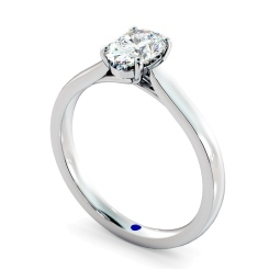 HRO866 Oval Shoulder Diamond Ring - white