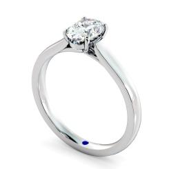 HRO866 Oval Shoulder Diamond Ring - white