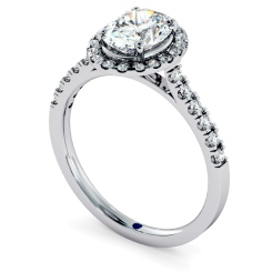 HROSD731 Oval cut Halo Diamond Ring - white