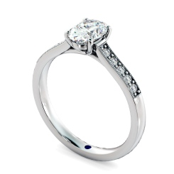HROSD868 Oval Shoulder Diamond Ring - white