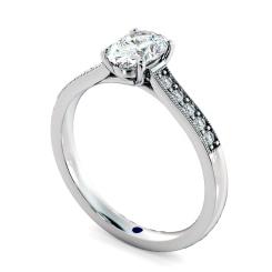 HROSD868 Oval Shoulder Diamond Ring - white