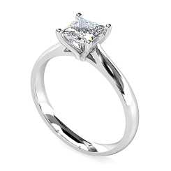 HRP1584 1.00CT VS2/G PRINCESS DIAMOND SOLITAIRE RING - white