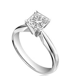HRP1642 1.00CT IF/G PRINCESS DIAMOND SOLITAIRE RING - white