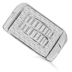 HRP1773 1.64CT VS/EF MENS DIAMOND RING - white