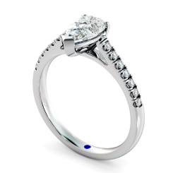HRPESD875 Pear Shoulder Diamond Ring - white