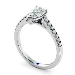 HRPESD875 Pear Shoulder Diamond Ring - white