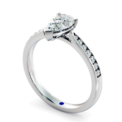 HRPESD877 Pear Shoulder Diamond Ring - white