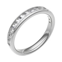 HRPFE2253 Half Eternity Ring - white