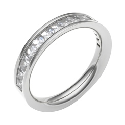 HRPFE2255 Half Eternity Ring - white