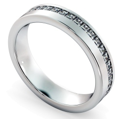 TUCANA Offset Princess cut Full Diamond Eternity Band - white