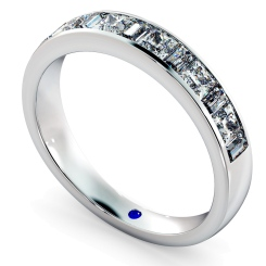 HRPHE1006 Princess & Baguette Half Eternity Diamond Ring - white