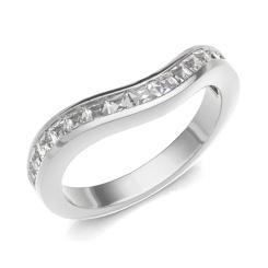 HRPHE2320 Half Eternity Ring - white
