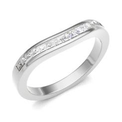 HRPHE2322 Half Eternity Ring - white