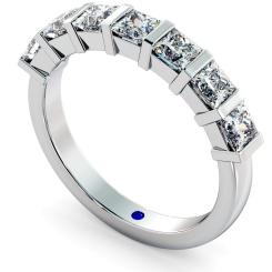 LYNX 7 Stone Princess cut Diamond Ring - white