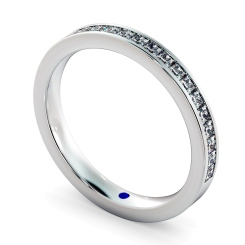 CENTAURUS 60% Princess cut Half Eternity Ring - white