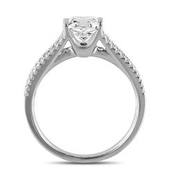 HRPSD1600 1.40CT VVS1/E PRINCESS DIAMOND SHOULDER SET RING - white