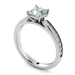 HRPSD796 Princess  Shoulder Diamond Ring - white
