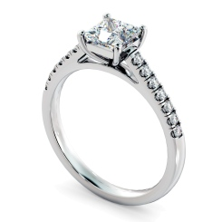 HRPSD811 Princess Shoulder Diamond Ring - white